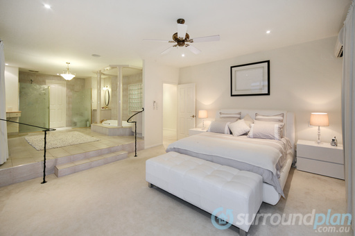 main bedroom with luxurious ensuite